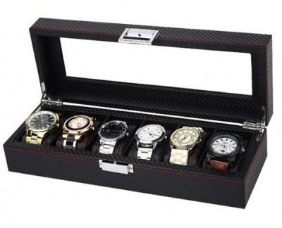 Caset? pentru 6 ceasuri, stil carbon - WZ2488 foto