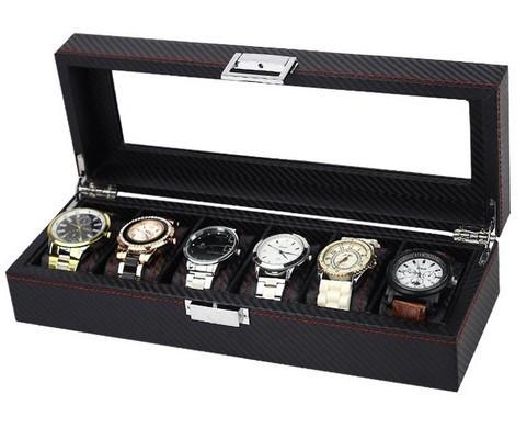 Caset? pentru 6 ceasuri, stil carbon - WZ2488