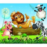 Fototapet Regele Animalelor si Prietenii 300 x 257 cm