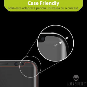 FOLIE ALIEN SURFACE HD, SAMSUNG GALAXY NOTE 8, PROTECTIE SPATE, LATERALE +...