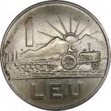 Romania,  1 leu 1966 * cod 103, Cupru-Nichel