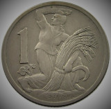 Moneda ISTORICA 1 COROANA - CEHOSLOVACIA 1922 *cod 410, Europa