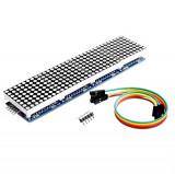 Matrice 8x8 LED-uri driver MAX7219 (4 in 1) Arduino + (5 fire mama-mama) (v.15)