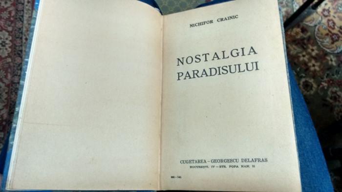 Nichifor Crainic - Nostalgia Paradisului - 1942 - Cugetarea Georgescu Delafras