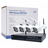 Resigilat : Kit supraveghere video PNI House WiFi550 NVR 8 canale 1080P si 4 camer