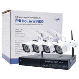 Resigilat : Kit supraveghere video PNI House WiFi550 NVR 8 canale 1080P si 4 camer