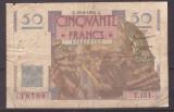 Franta 1950(29-6) - 50 francs, uzata