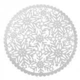 Set 6 - Individual argintiu Christmas (suport farfurie) D- 35 cm