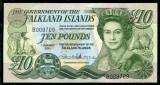 INSULELE FALKLAND █ bancnota █ 10 Pounds █ 2011 █ P-18 █ UNC █ necirculata