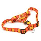 Zgardă pentru câini - tertan galben portocaliu S 1,6 x 30 - 45 cm