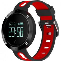 Bratara Fitness iUni DM58 Plus, Waterproof, Display OLED, Ceas, Pedometru, Monitorizare puls, Notificari, Rosu