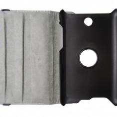 Husa tip carte neagra (textura Litchi) rotativa cu stand pentru Asus Fonepad ME371