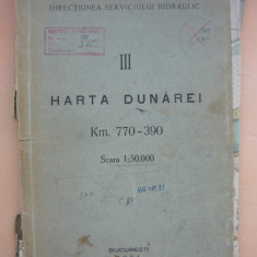 HARTA DUNAREI - KM. 770 - 390 ( scara 1: 50000 ) - 1934