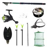 Cumpara ieftin Pachet de pescuit complet cu lanseta 3,6m, mulineta, lanterna led, senzor, juvelnic si accesorii