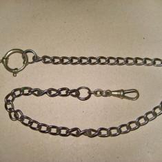 B126-I-Lant ceas buzunar vechi in metal. Lungime 40 cm. Stare buna in patina.