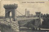 Carte poștală – Craiova. Parcul Bibescu. Podul Suspendat.