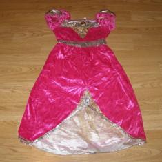 costum carnaval serbare rochie medievala printesa pentru copii de 3-4 ani
