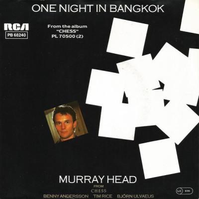"Murray Head - One Night In Bangkok (1984, RCA) Disc vinil single 7"" foto"