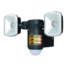 Proiector LED GP Safeguard 2.1, baterie si senzor miscare, 2x LED, autonomie 300 zile