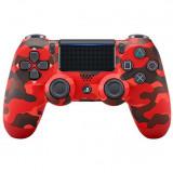Controller Sony Dualshock 4 v2, pentru PlayStation 4, Red Camouflage