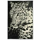 Covor Decorino Animal Print C03-020182, Alb/Negru, 120x170 cm
