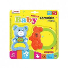 Set 2 Jucarii Zornaitoare pentru Bebelusi, Urs si Iepure, Multicolor