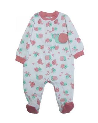 Salopeta / Pijama bebe cu melci & broscute Z48 foto