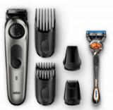 Aparat tuns barba Braun BT7020, 39 setari de lungime, 0.5 – 20 mm, Autonomie 100 min, Lavabil + Aparat de ras Gillette Fusion5 ProGlide cu tehnologia