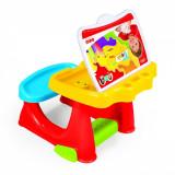 Birou pentru copii cu scaunel si accesorii pentru desenat, Altele, Unisex, Multicolor