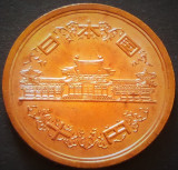 Moneda exotica 10 YENI - JAPONIA, anul 1990   *cod 3996 UNC Luciu + Patina