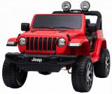 Cumpara ieftin Masinuta electrica 4x4 Premier Jeep Wrangler Rubicon, 12V, roti cauciuc EVA, scaun piele ecologica, rosu