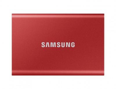 SSD Extern Samsung T7 500GB USB 3.2 2.5 inch Metallic Red foto