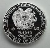 ARMENIA - 500 Dram 2016 - Arca lui Noe - o uncie argint - 31.1 gr. - 999/1000