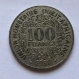 P735 Africa Est  100 franci 1980