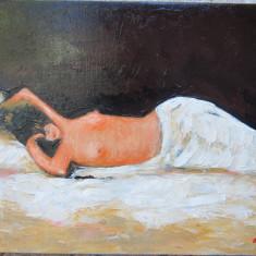 Tablou nud semnat Cimpoesu dupa Grigorescu