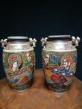 Set de 2 elegante vaze,amfore japoneze Satsuma