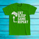 "Cumpara ieftin Tricou ""eat-sleep-game-repeat"""