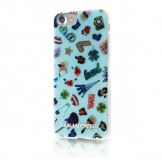 Husa Karl Lagerfeld KLHCP73DAQBLU iPhone 7 8 Blue K Universe