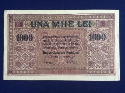Bancnote Romania - 1000 lei 1917 - Banca Generală Română (starea care se vede) foto