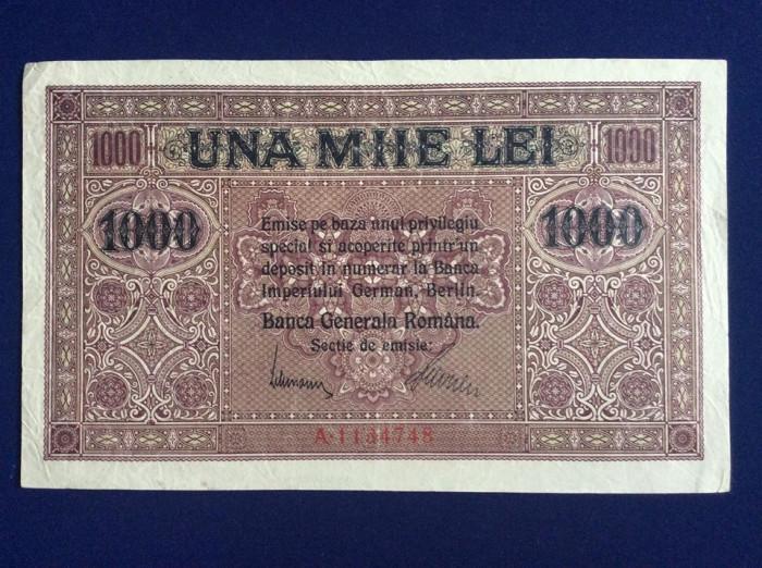 Bancnote Romania - 1000 lei 1917 - Banca Generală Română (starea care se vede)