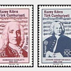 Cipru Turcesc 1985 - Europa-Compozitori, serie neuzata
