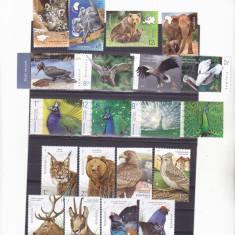 PASARI ,ANIMALE,5 SERII COMPLETE 2018-19,NEUZATE MNH,ROMANIA.