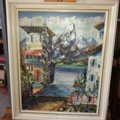 Tablou ulei pe panza  - Vedere montana, Peisaje, Realism
