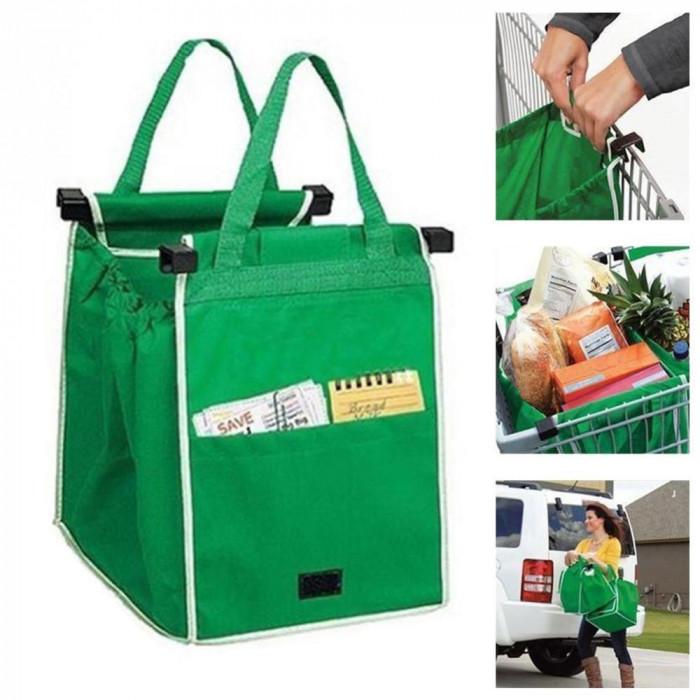 Set 2 sacose ideale si rezistente pentru cumparaturi