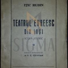 TEATRU EVREESC DIN IASI - scurt istoric - ITIC RUBIN,