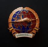Insigna Aviatie - pilot - Pt. 6000000 km efectuati