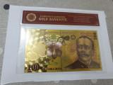 bancnota romania 100 lei 2005 aurita