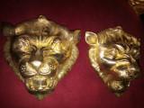 Superb set de 2 aplice din bronz masiv in stilul Baroc