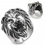 Inel din oțel inoxidabil - cap mare de leu - Marime inel: 70