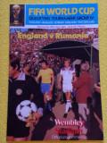 Program meci fotbal ANGLIA - ROMANIA (29.04.1981)